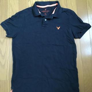 アメリカンイーグル(American Eagle)の美品 アメリカンイーグル ポロシャツ Mサイズ ネイビーオレンジ(ポロシャツ)