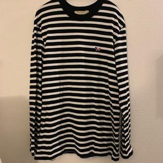 メゾンキツネ(MAISON KITSUNE')のお値下げ メゾンキツネ ボーダー トップス 裾部分ほつれあり(Tシャツ/カットソー(七分/長袖))