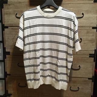 ジーユー(GU)のメンズ ボーダーカットソー(Tシャツ/カットソー(半袖/袖なし))