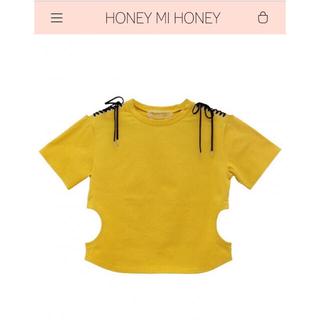 ハニーミーハニー(Honey mi Honey)の美品HONEYMIHONEY サークルカットTシャツ(Tシャツ(半袖/袖なし))