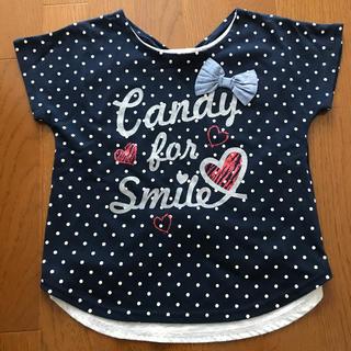 シマムラ(しまむら)の水玉オシャレTシャツ140cm(Tシャツ/カットソー)