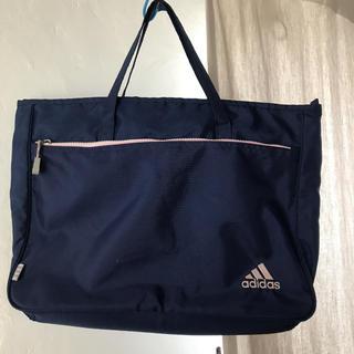 アディダス(adidas)のアディダス adidas レッスンバッグ 紺ピンク(バッグ/レッスンバッグ)