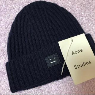 アクネ(ACNE)の★新品未使用★ AcneStudios ネイビーニット帽(ニット帽/ビーニー)
