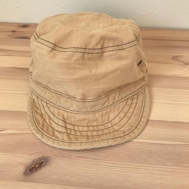 ベルメゾン(ベルメゾン)の日よけ付き 帽子 ベビー キッズ キャップ ワークキャップ  キッズ/ベビー/マタニティのこども用ファッション小物(帽子)の商品写真