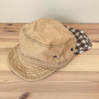 ベルメゾン(ベルメゾン)の日よけ付き 帽子 ベビー キッズ キャップ ワークキャップ (帽子)