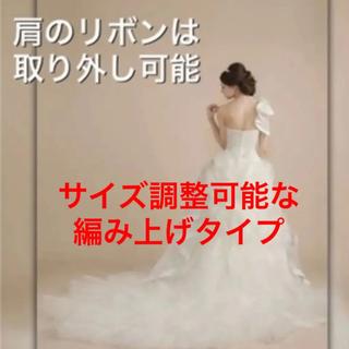 0fc4bc9b2df37 ウェディングドレス ワタベウェディング プリンセスライン ロングトレーン 結婚式(ウェディングドレス)