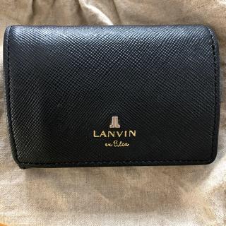 ランバンオンブルー(LANVIN en Bleu)のランバンオンブルー ミニ財布 ネイビー(財布)