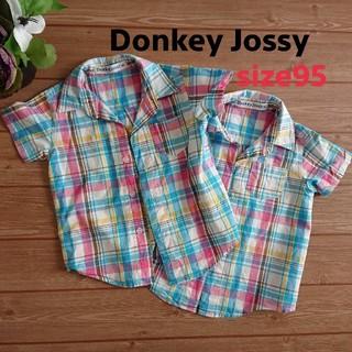 ドンキージョシー(Donkey Jossy)のDonkey Jossy  チェックシャツ 半袖 二枚セット(ブラウス)