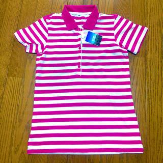 シマムラ(しまむら)の新品未使用タグ付きピンクボーダーポロシャツ(ポロシャツ)