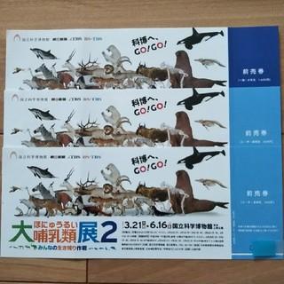 大哺乳類展2    前売券(一般1枚、小・中・高2枚)