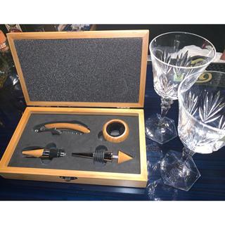 バカラ(Baccarat)の新品♡カガミクリスタル ワインオープナーセット(グラス/カップ)