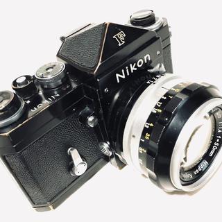 ニコン(Nikon)のニコンF NIKKOR-S 50mm f1.4 付 黒塗 真鍮光る迫力ある外観(フィルムカメラ)