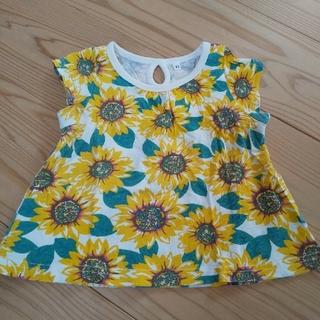 しまむら - ひまわり柄 Tシャツ 90