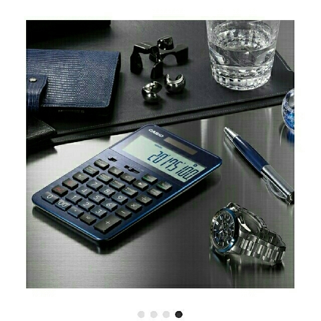 CASIO(カシオ)の〈イトカン様専用〉美品【カシオ】プレミアム電卓S100  ブルー インテリア/住まい/日用品のオフィス用品(オフィス用品一般)の商品写真