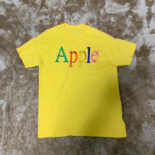 アップル(Apple)のApple 刺繍 半袖 Tシャツ 首タグ欠品  希少 アップル(Tシャツ/カットソー(半袖/袖なし))