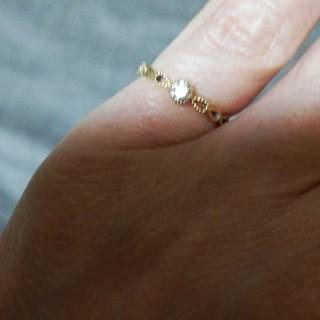 アガット(agete)のダイヤ 18Kピンキーリング(リング(指輪))