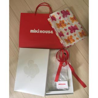 ミキハウス(mikihouse)のラッピング 包装紙 ギフトボックス 一式セット 紙袋 プレゼント 出産祝い(その他)