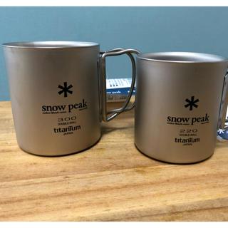 Snow Peak - snow peakスノーピーク  チタンダブル マグ2個セット