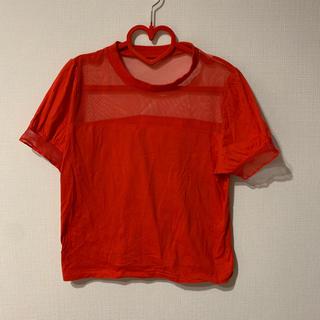 スライ(SLY)のSLY 半袖メッシュトップス(Tシャツ(半袖/袖なし))
