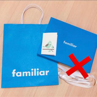 ファミリア(familiar)のファミリア♡ショップ袋&メッセージカード(その他)