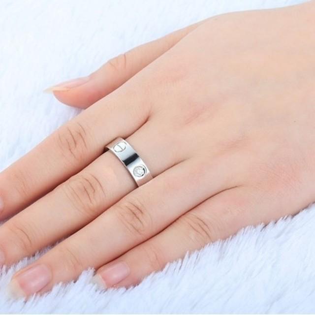 ※即日発送☞婚約指輪ギフト♥シンプル※金属アレ対応リング★指輪シルバー925 レディースのアクセサリー(リング(指輪))の商品写真