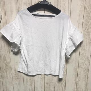 ジーユー(GU)のGU ジーユー カットソー トップス Tシャツ(Tシャツ(半袖/袖なし))