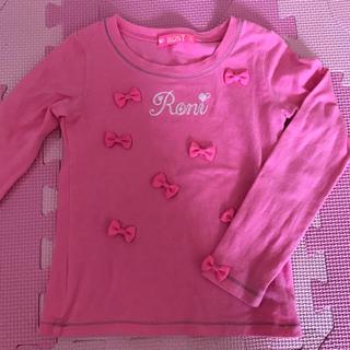 ロニィ(RONI)のロニ♡ロンT♡S♡100♡ピンク(Tシャツ/カットソー)