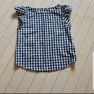 ジーユー(GU)のギンガムチェック ブラウス トップス GU(シャツ/ブラウス(半袖/袖なし))