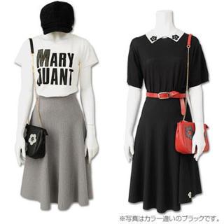 マリークワント(MARY QUANT)の【未使用】ルミナスフレアスカート グレー(ひざ丈スカート)