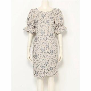 749d40a48a441 スナイデル(snidel)の新品 snidel スナイデル ラメジャガードワンピース 花柄 ドレス(ひざ