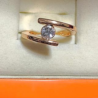 シルバー925ゴールドリング(リング(指輪))