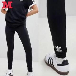 アディダス(adidas)のアディダス オリジナルス トレフォイル バックロゴ レギンス 黒 M 新品未使用(レギンス/スパッツ)