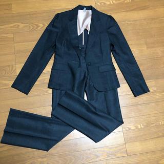 エストネーション(ESTNATION)のエストネーション パンツスーツ セットアップ チャコールグレー(スーツ)