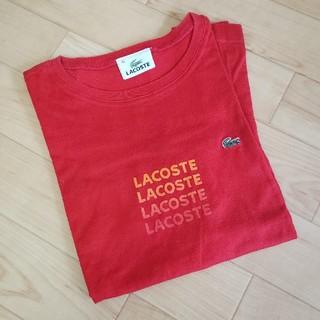 ラコステ(LACOSTE)のLACOSTE ロゴTシャツ<RED>(Tシャツ(半袖/袖なし))