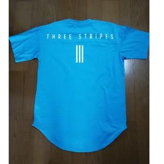 アディダス(adidas)のadidas今季最新作大人気バックプリントT ブルーXL 未使用タグ付き(Tシャツ/カットソー(半袖/袖なし))