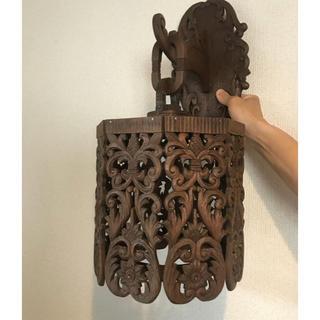 フランフラン(Francfranc)の木彫りの照明電球なし(天井照明)