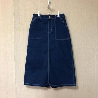 シマムラ(しまむら)の膝丈 デニムタイトスカート(ひざ丈スカート)