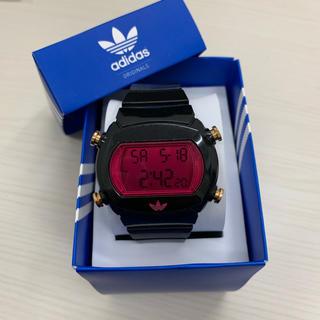 アディダス(adidas)のadidas腕時計 黒×ピンク(腕時計(デジタル))