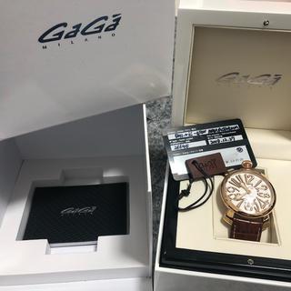 ガガミラノ(GaGa MILANO)の【美品本物】ガガミラノ  腕時計(レザーベルト)