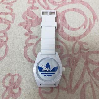 アディダス(adidas)のadidas 腕時計 白×水色(腕時計)
