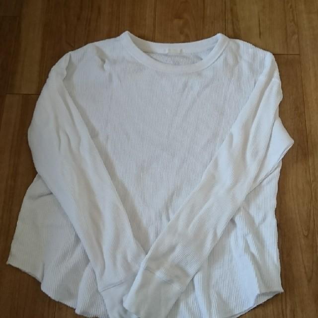 GU(ジーユー)のワッフル長袖Tシャツ レディースのトップス(Tシャツ(長袖/七分))の商品写真