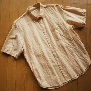 ジーユー(GU)のGU リネンブレンドシャツ メンズM(シャツ)