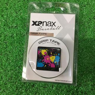 ザナックス(Xanax)のXanax 野球バット用グリップテープ スプラッシュ柄 黒 1本入り 新品(その他)