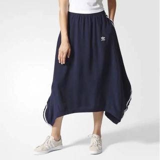 アディダス(adidas)の新品未使用adidas  originals スリーライン ストライプスカートM(ロングスカート)