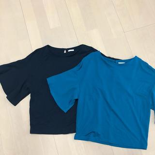 ジーユー(GU)のGU ブラウス スカート 3点セット(シャツ/ブラウス(半袖/袖なし))