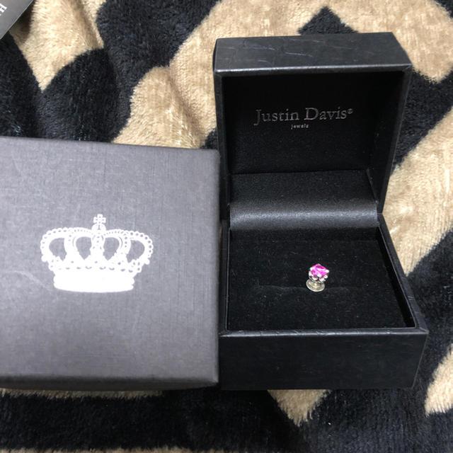 Justin Davis(ジャスティンデイビス)のJustin Davis ピアス ピンク クラウン 美品 レディースのアクセサリー(ピアス)の商品写真