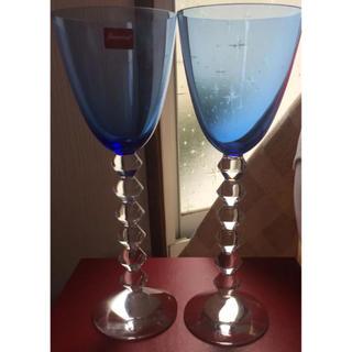 Baccarat - 【貴重品】バカラ ベガ フォルテッシモ トールワイングラス  ブルー ペアセット