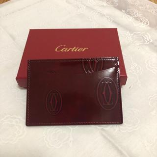 カルティエ(Cartier)のCartier  カードケース  名刺いれ/定期  ボルドー(名刺入れ/定期入れ)