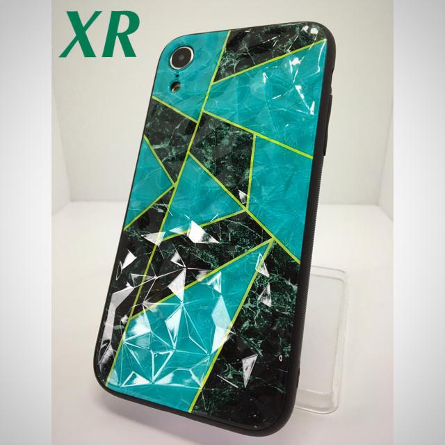 バーバリー iphone x ケース / アイフォンXR iPhoneXRケース☆ターコイズ☆クリスタル☆大理石☆送料無料の通販 by ロゴ's shop|ラクマ