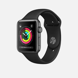 アップルウォッチ(Apple Watch)のApple watch series3 3(腕時計(デジタル))